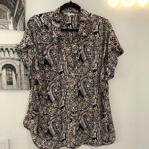 DR2 Daniel Rainn patterned short sleeve blouse